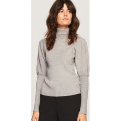 Sweter z golfem - Jasny szar. Szare golfy damskie marki Reserved, l. Za 69,99 zł.