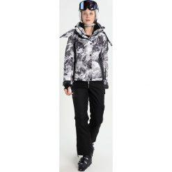 Superdry SNOW PUFFER Kurtka snowboardowa cliff face/black. Szare kurtki damskie narciarskie marki Superdry, l, z nadrukiem, z bawełny, z okrągłym kołnierzem. W wyprzedaży za 871,20 zł.