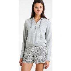 T-shirty damskie: Calvin Klein Underwear HALF ZIP HOODIE Koszulka do spania grey
