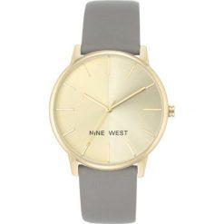 Zegarki damskie: Zegarek Nine West Damski NW/1996CHGY Fashion Gold szary