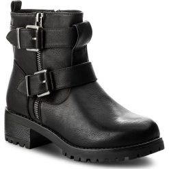 Botki JENNY FAIRY - WS17029-16 Czarny. Czarne buty zimowe damskie Jenny Fairy, ze skóry ekologicznej, na obcasie. Za 129,99 zł.