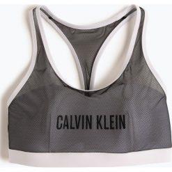 Calvin Klein - Damski top do bikini, czarny. Czarne bikini marki Calvin Klein, z nadrukiem. Za 279,95 zł.