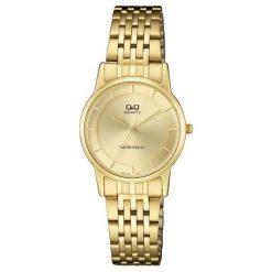 Zegarek Q&Q Damski Klasyczny Biżuteryjny QA57-010 złoty. Żółte zegarki damskie Q&Q, złote. Za 137,48 zł.