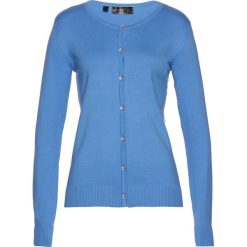 Swetry rozpinane damskie: Sweter rozpinany bonprix niebieski