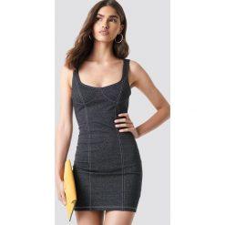 Motel Rocks Sukienka Spara - Grey. Zielone sukienki mini marki Emilie Briting x NA-KD, l. Za 202,95 zł.