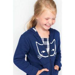 Bluzy dziewczęce: Rozpinana gruba bluza z kapturem dla dziewczynki 9-13 lat
