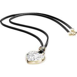 Naszyjniki damskie: Naszyjnik w kolorze czarnym z kryształem Swarovski - (D)80 cm