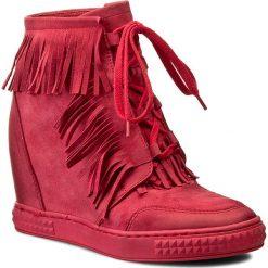 Botki CARINII - B3678 H22-000-PSK-B88. Czerwone buty zimowe damskie Carinii, z materiału. W wyprzedaży za 239,00 zł.