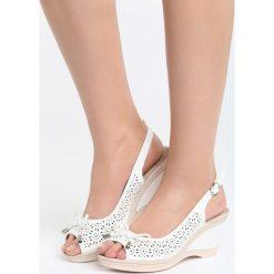 Białe Sandały One Life. Białe sandały trekkingowe damskie marki Born2be, z materiału, na koturnie. Za 79,99 zł.