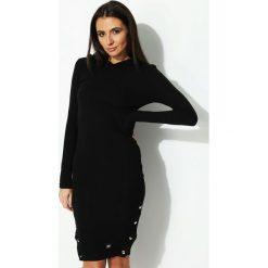 Sukienki: Czarna Sukienka Snaps Side