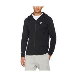 Bejsbolówki męskie: Nike Bluza męska M NSW Hoodie FZ JSY Club czarna r. M  (861754-010)