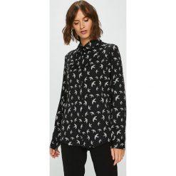 Answear - Koszula. Czarne koszule damskie ANSWEAR, l, z poliesteru, casualowe, z długim rękawem. W wyprzedaży za 69,90 zł.