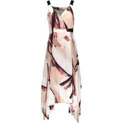 Sukienki asymetryczne: Sukienka w kolorze brązowo-białym