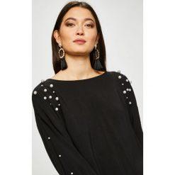 Medicine - Bluzka Vintage Revival. Czarne bluzki longsleeves marki MEDICINE, l, z tkaniny, casualowe, z dekoltem w łódkę. Za 89,90 zł.