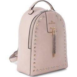 Plecaki damskie: Plecak w kolorze cielistym – 23 x 30 x 12 cm