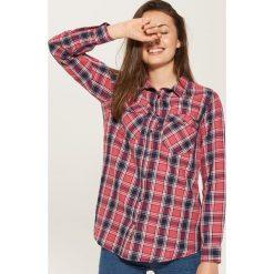 Koszula w kratę - Różowy. Czerwone koszule damskie marki House, l. W wyprzedaży za 39,99 zł.