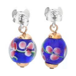 Kolczyki damskie: Kolczyki-wkrętki ze szklanymi kryształkami