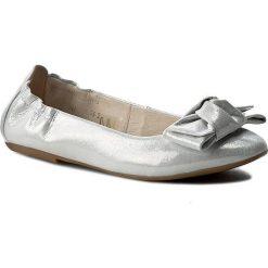 Baleriny BALDACCINI - 948500  Srebro Satynka. Szare baleriny damskie marki Baldaccini, z nubiku, na płaskiej podeszwie. W wyprzedaży za 189,00 zł.