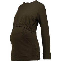 Bluzy rozpinane damskie: Boob NIKI  Bluza earthy green