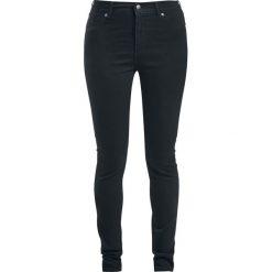 Spodnie z wysokim stanem: Cheap Monday High Spray - Black Jeansy damskie czarny