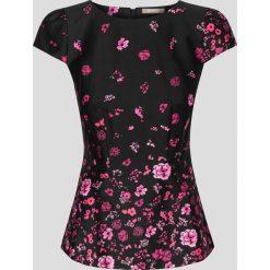 Bluzki asymetryczne: Bluzka w kwiaty