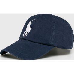 Polo Ralph Lauren - Czapka. Czarne czapki z daszkiem męskie Polo Ralph Lauren, z bawełny. Za 219,90 zł.