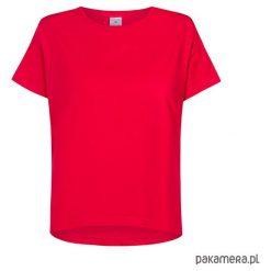 T-shirt basic CZERWONY. Czerwone t-shirty damskie marki Pakamera, z nadrukiem, z bawełny. Za 99,00 zł.