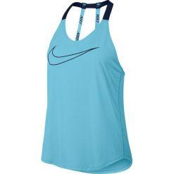 Nike Koszulka damska BRTHE TANK Elastka niebieska r. M (833766 432). Czarne topy sportowe damskie marki Nike, xs, z bawełny. Za 116,18 zł.