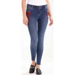 Dorothy Perkins ROSE EMBROIDERED DARCY Jeans Skinny Fit indigo. Niebieskie boyfriendy damskie Dorothy Perkins. W wyprzedaży za 175,20 zł.