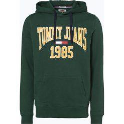 Tommy Jeans - Męska bluza nierozpinana, zielony. Zielone bluzy męskie rozpinane Tommy Jeans, l, z nadrukiem, z jeansu, z kapturem. Za 399,95 zł.