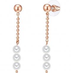 Kolczyki z perłami. Żółte kolczyki damskie Pearls Special, z perłą, z mosiądzu. W wyprzedaży za 45,95 zł.