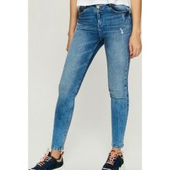 Jeansy skinny z wysokim stanem - Niebieski. Niebieskie jeansy damskie skinny marki Sinsay, z jeansu, z podwyższonym stanem. Za 89,99 zł.