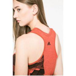 Adidas Performance - Top Adi Aop Eascor. Czerwone topy sportowe damskie marki adidas Performance, m. W wyprzedaży za 89,90 zł.