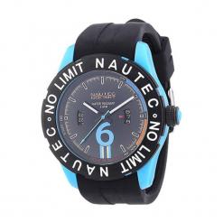 """Zegarek """"ZY2BQZRBPCBKBKBL"""" w kolorze czarno-niebieskim. Czarne, analogowe zegarki męskie marki Dugena & Nautec No Limit, sztuczne. W wyprzedaży za 299,95 zł."""