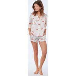 Etam - Koszula piżamowa Flamingo. Niebieskie koszule nocne i halki marki Etam, l, z bawełny. W wyprzedaży za 89,90 zł.