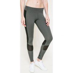 Reebok - Legginsy. Szare legginsy skórzane marki Reebok, l. W wyprzedaży za 99,90 zł.