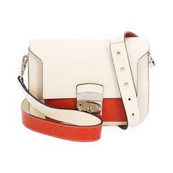 Torebki klasyczne damskie: Skórzana torebka w kolorze beżowym – (S)23 x (W)15 x (G)8 cm