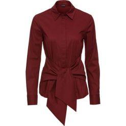 Bluzki damskie: Bluzka z efektem założenia kopertowego bonprix czerwony kasztanowy