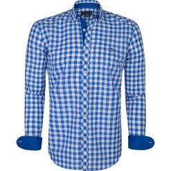 """Koszule męskie na spinki: Koszula """"Pau"""" w kolorze niebiesko-białym"""