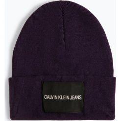 Calvin Klein Jeans - Czapka damska z dodatkiem kaszmiru, lila. Czarne czapki damskie Calvin Klein Jeans, z jeansu. Za 179,95 zł.