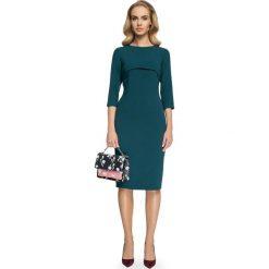 MILAGROS Sukienka z bolerkiem - zielona. Zielone sukienki na komunię marki Stylove, do pracy, biznesowe, ołówkowe. Za 169,90 zł.