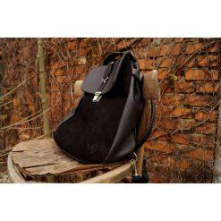 Torebki i plecaki damskie: LILITH plecak/torba czarna skóra