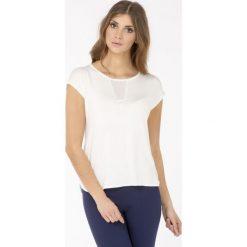 Bluzki asymetryczne: Bluzka z ażurowym zdobieniem