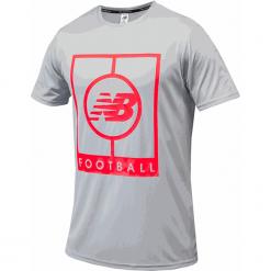 Koszulka treningowa MT833017LCL. Szare koszulki sportowe męskie New Balance, m, z materiału. Za 129,99 zł.