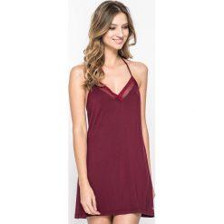 Calvin Klein Underwear - Koszulka nocna Chemise. Czerwone koszule nocne i halki Calvin Klein Underwear, z elastanu. Za 219,90 zł.