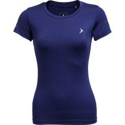 Koszulka treningowa damska TSDF600 - granatowy - Outhorn. Niebieskie topy sportowe damskie Outhorn, na lato, z materiału. W wyprzedaży za 29,99 zł.