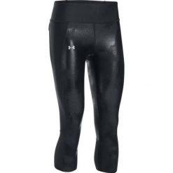 Spodnie damskie: Under Armour Legginsy damskie Fly-By Printed Capri czarne r. S (1297934-013)