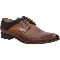 Brązowe buty wizytowe skórzane sznurowane brąz palony DUO MEN 01718E-02-B-P-010. Brązowe buty wizytowe męskie Duo Men, na sznurówki. Za 238,99 zł.