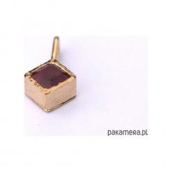 Złoty wisiorek z rubinem, prezent dla Mamy. Żółte wisiorki damskie Pakamera, złote. Za 630,00 zł.