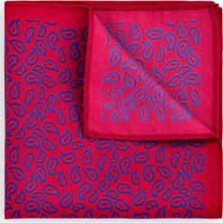 Poszetka Czerwona Paisley. Czerwone poszetki męskie LANCERTO, paisley, klasyczne. Za 79,90 zł.